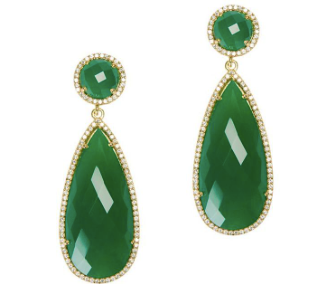 Susan Hanover Green Onyx Drop Earrings