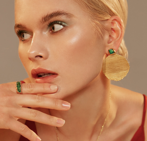 Fenomena Emerald Maxi Orden earrings