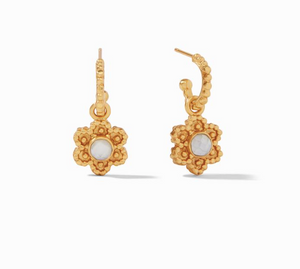 Julie Vos Colette Hoop and Charm Earring