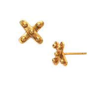 Julie Vos Soho X Stud Earrings