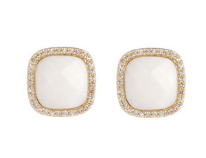 Marcia Moran Affinity Square Stud Earrings
