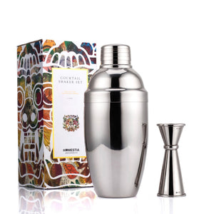 550ml Stainless Steel Cocktail Shaker with Jigger