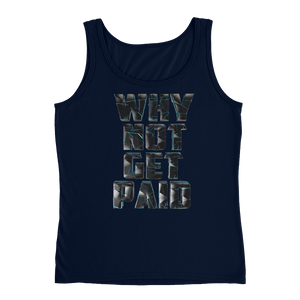 Why Not Get Paid 4.0 Ladies' Tank Collection 4.0 WhyNotGetPAidFashion Navy S