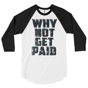 Mens Long Sleeve T Shirts Why Not Get Paid 4.0 Collection 4.0 WhyNotGetPAidFashion White/Black S