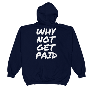 Urban Zip Hoodie Why Not Get Paid Retro Dot RetroDot WhyNotGetPAidFashion Navy S