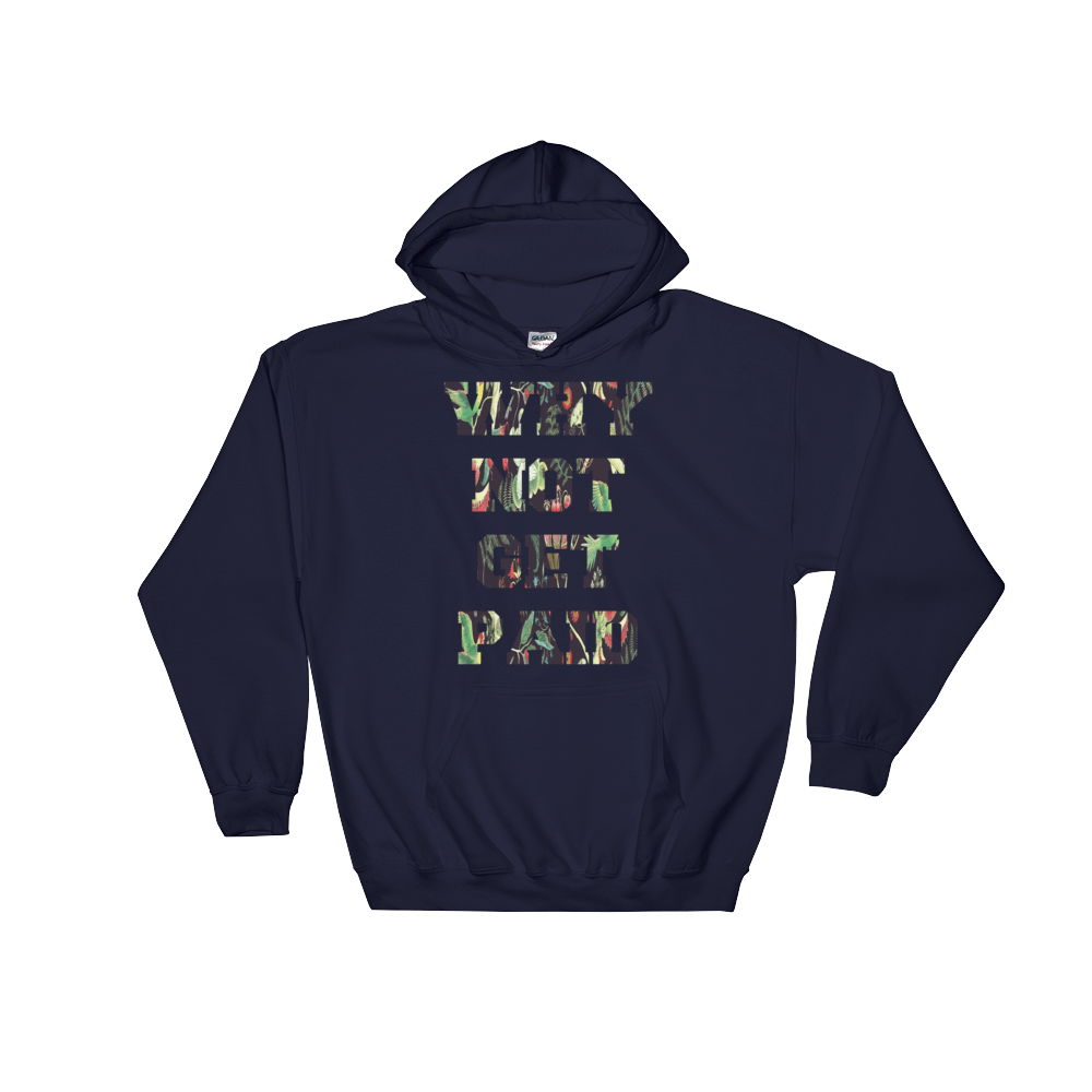 Why Not Get Paid Jungle Tec Hooded Sweatshirt JungleTec WhyNotGetPAidFashion Navy S
