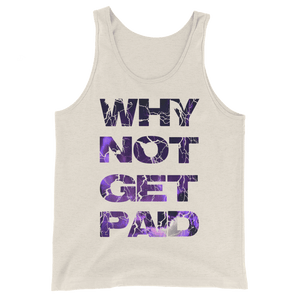 Why Not Get Paid Litt Moment Tank Top Collection LittMoment WhyNotGetPAidFashion Oatmeal Triblend XS