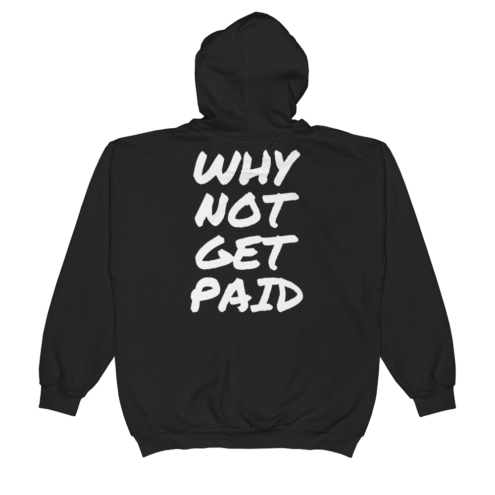 Urban Zip Hoodie Why Not Get Paid Retro Dot RetroDot WhyNotGetPAidFashion Black S