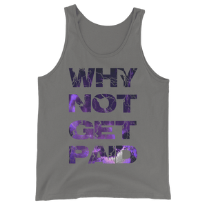 Why Not Get Paid Litt Moment Tank Top Collection LittMoment WhyNotGetPAidFashion Asphalt XS