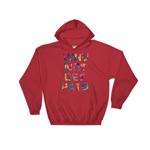 Why Not Get Paid Color Trap Hooded Sweatshirt Colortrap WhyNotGetPAidFashion Red S