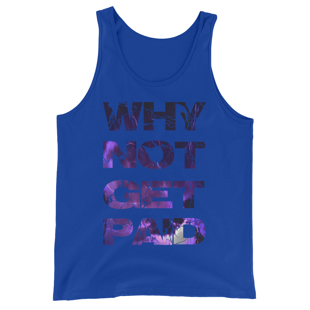 Why Not Get Paid Litt Moment Tank Top Collection LittMoment WhyNotGetPAidFashion True Royal XS