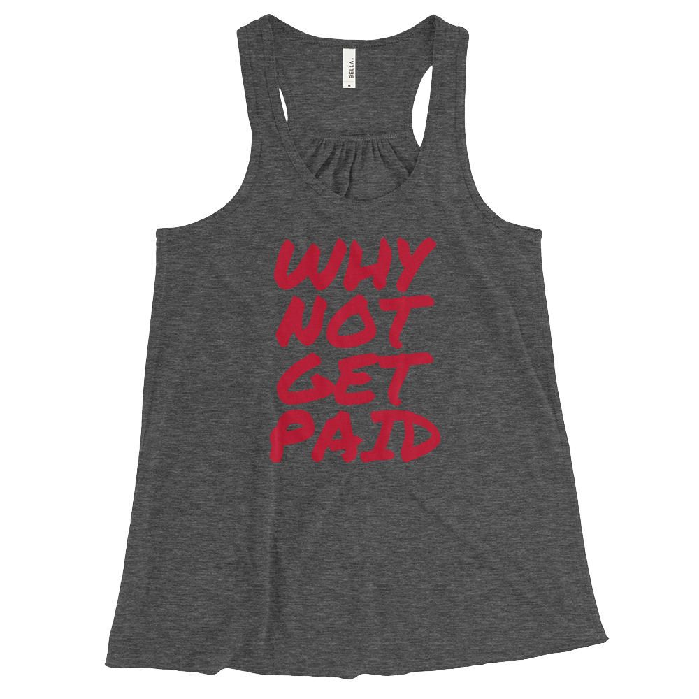 Tank Tops Women Why Not Get Paid Retro Dot RetroDot WhyNotGetPAidFashion Dark Grey Heather XS