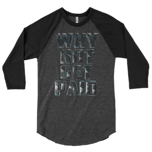 Mens Long Sleeve T Shirts Why Not Get Paid 4.0 Collection 4.0 WhyNotGetPAidFashion Heather Black/Black S