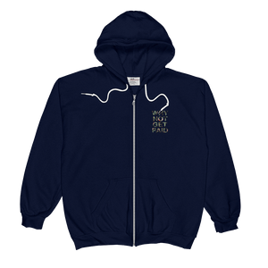 Why Not Get Paid Jungle Tec Zip Hoodie JungleTec WhyNotGetPAidFashion Navy S