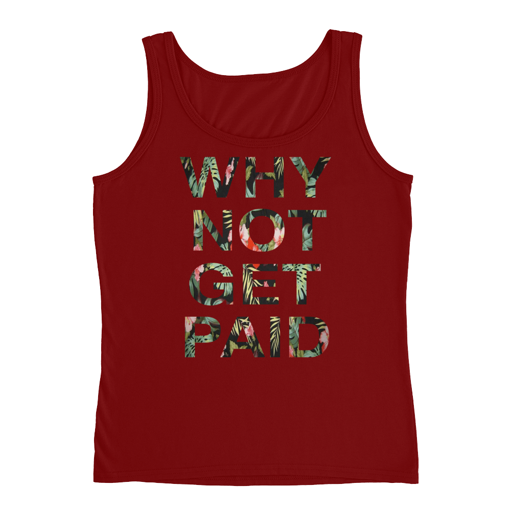 Why Not Get Paid Ladies' Jungle Tec Tank Collection JungleTec WhyNotGetPAidFashion Independence Red S