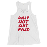 Tank Tops Women Why Not Get Paid Retro Dot RetroDot WhyNotGetPAidFashion White XS