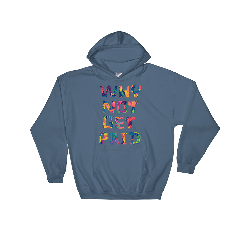 Why Not Get Paid Color Trap Hooded Sweatshirt Colortrap WhyNotGetPAidFashion Indigo Blue S