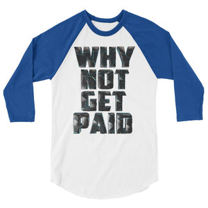 Why Not Get Paid 4.0 BaseBall Shirt 4.0 WhyNotGetPAidFashion White/Royal XS