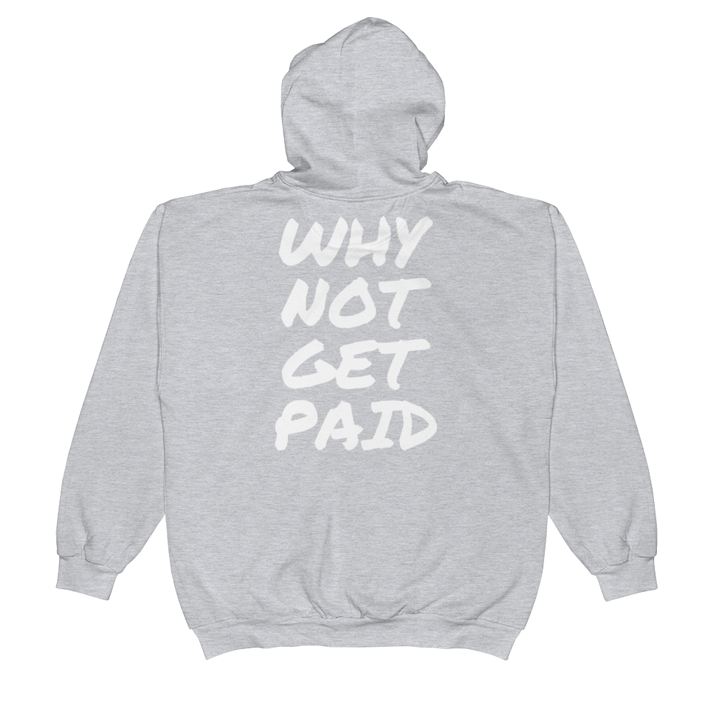 Urban Zip Hoodie Why Not Get Paid Retro Dot RetroDot WhyNotGetPAidFashion Heather Grey S