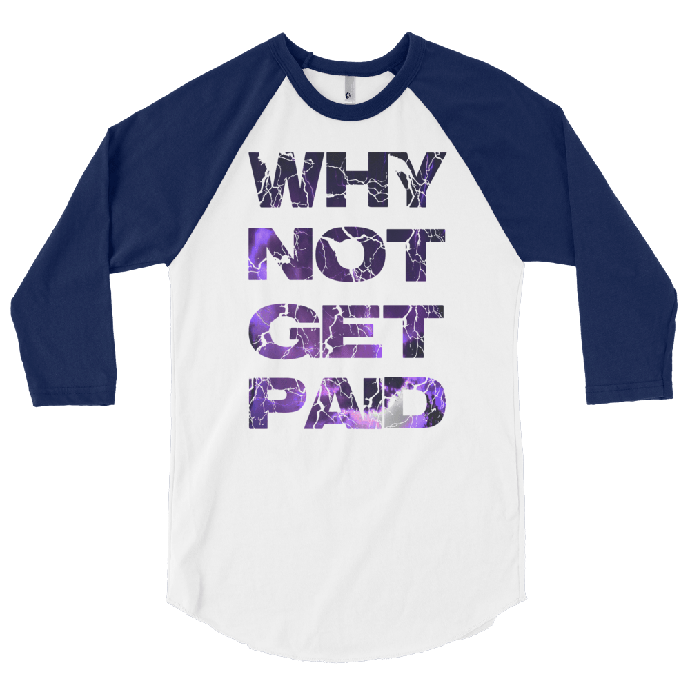 Why Not Get Paid Litt Moment BaseBall Shirt 2 LittMoment WhyNotGetPAidFashion White/Navy S