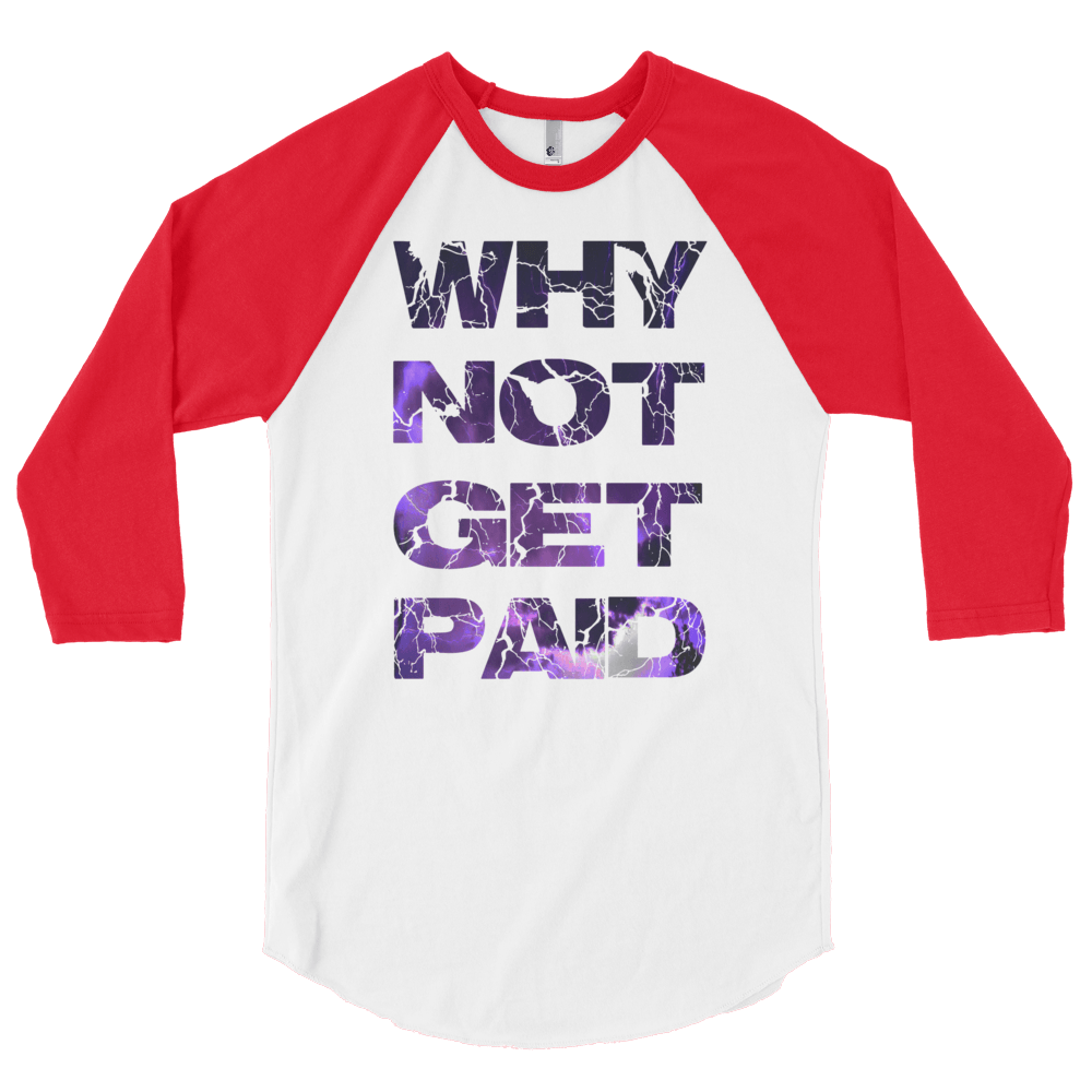 Why Not Get Paid Litt Moment BaseBall Shirt 2 LittMoment WhyNotGetPAidFashion White/Red S