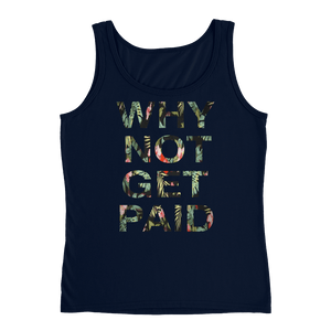 Why Not Get Paid Ladies' Jungle Tec Tank Collection JungleTec WhyNotGetPAidFashion Navy S