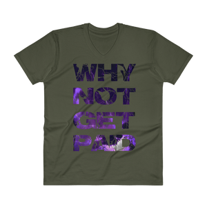 Why Not Get Paid Litt Moment V-Neck T-Shirt LittMoment WhyNotGetPAidFashion City Green S