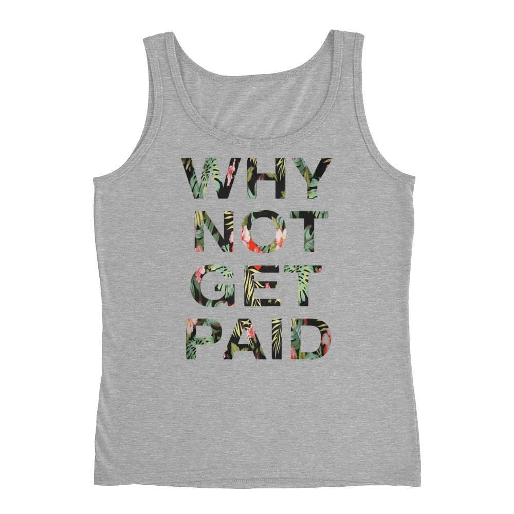 Why Not Get Paid Ladies' Jungle Tec Tank Collection JungleTec WhyNotGetPAidFashion Heather Grey S