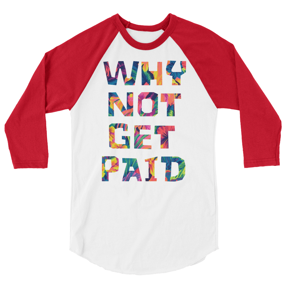 Why Not Get Paid Color Trap Baseball shirt Colortrap WhyNotGetPAidFashion White/Red XS