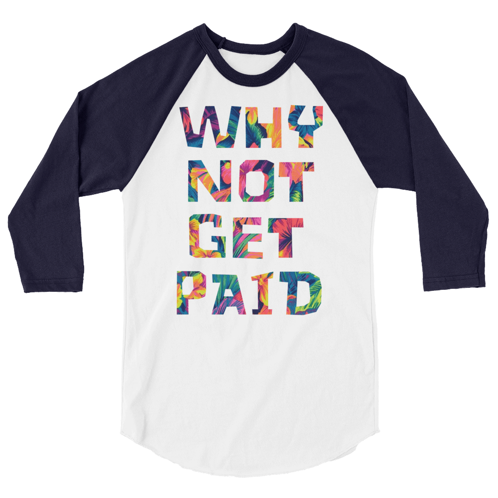 Why Not Get Paid Color Trap Baseball shirt Colortrap WhyNotGetPAidFashion White/Navy XS