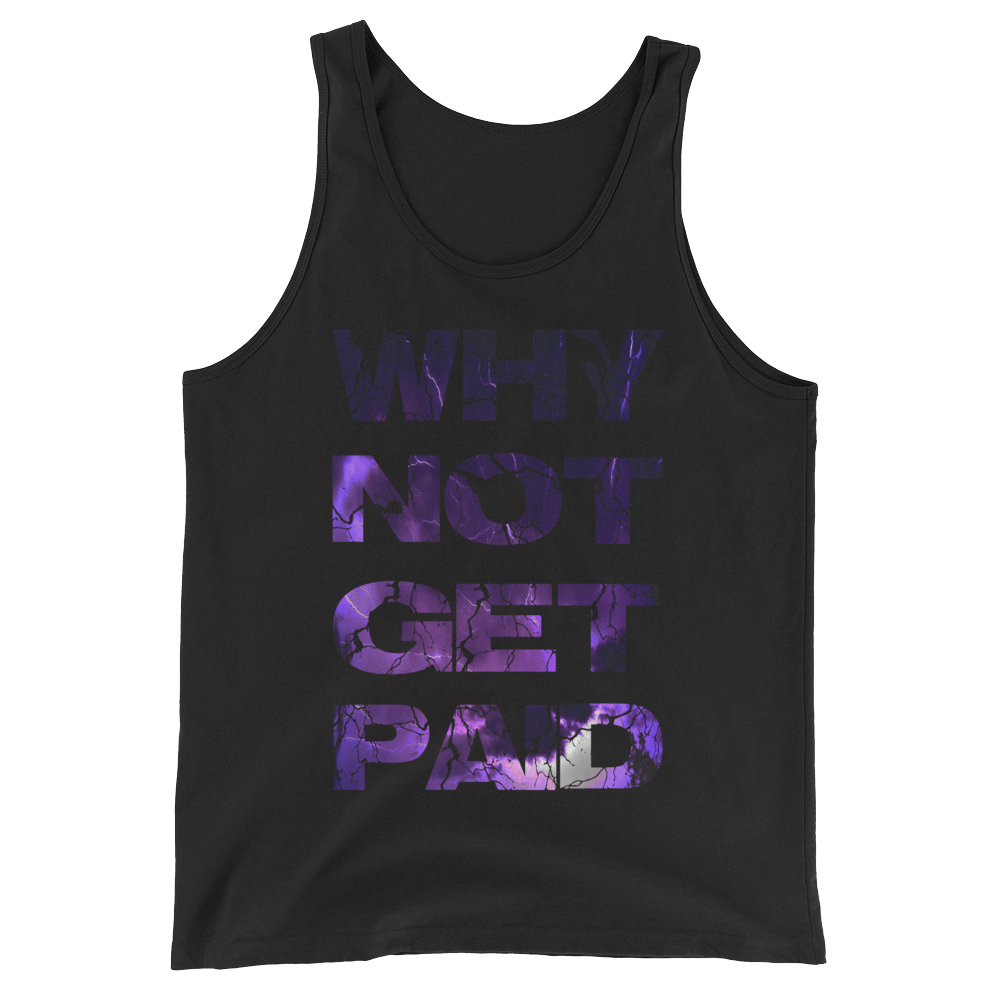 Why Not Get Paid Litt Moment Tank Top Collection LittMoment WhyNotGetPAidFashion Black XS
