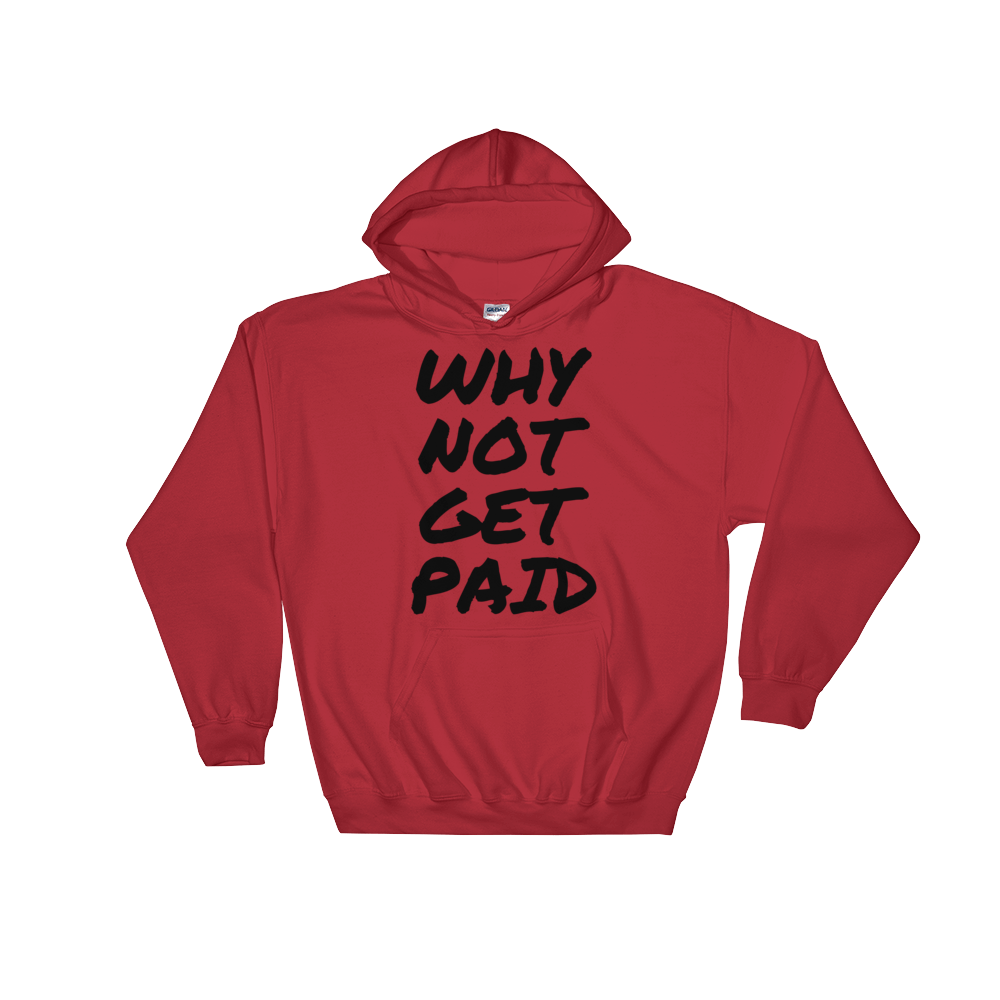 Why Not Get Paid Hooded Sweatshirt Retro Dot RetroDot WhyNotGetPAidFashion Red S