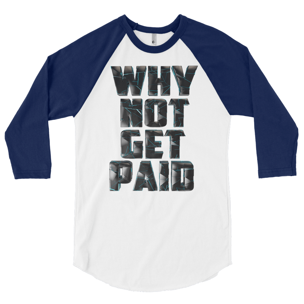 Mens Long Sleeve T Shirts Why Not Get Paid 4.0 Collection 4.0 WhyNotGetPAidFashion White/Navy S