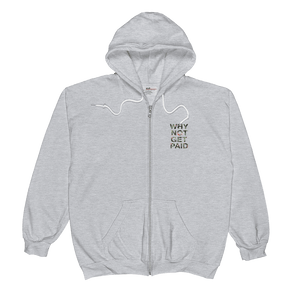 Why Not Get Paid Jungle Tec Zip Hoodie JungleTec WhyNotGetPAidFashion Heather Grey S