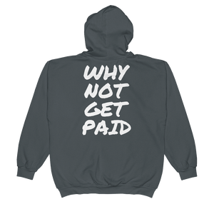 Urban Zip Hoodie Why Not Get Paid Retro Dot RetroDot WhyNotGetPAidFashion Charcoal S
