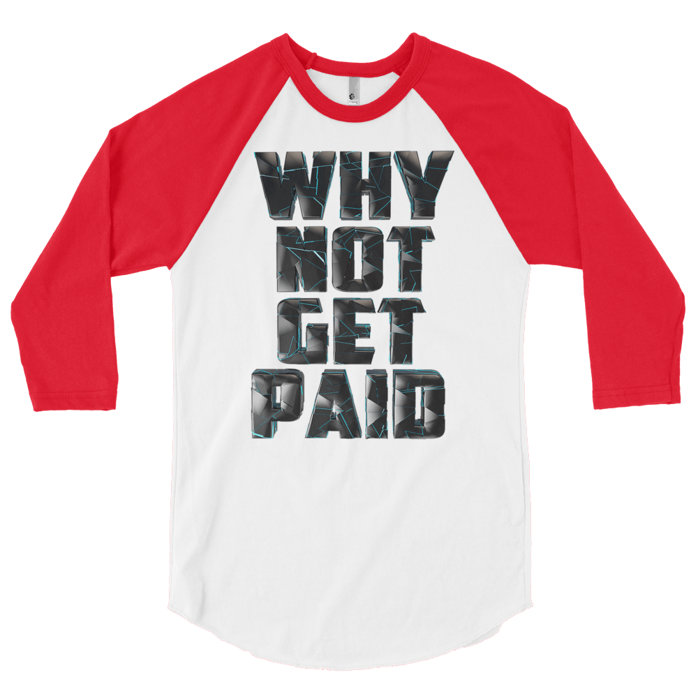 Mens Long Sleeve T Shirts Why Not Get Paid 4.0 Collection 4.0 WhyNotGetPAidFashion White/Red S