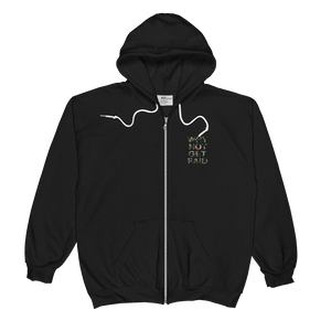 Why Not Get Paid Jungle Tec Zip Hoodie JungleTec WhyNotGetPAidFashion Black S