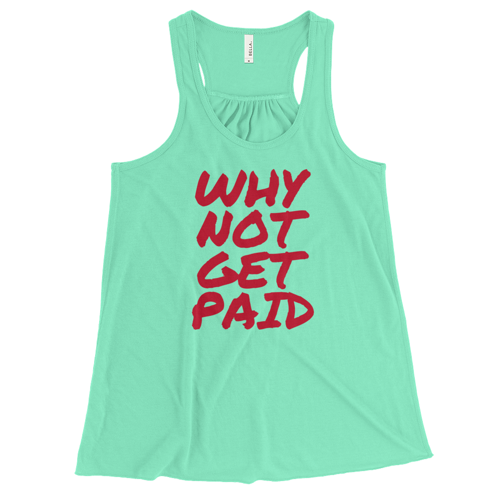 Tank Tops Women Why Not Get Paid Retro Dot RetroDot WhyNotGetPAidFashion Mint XS