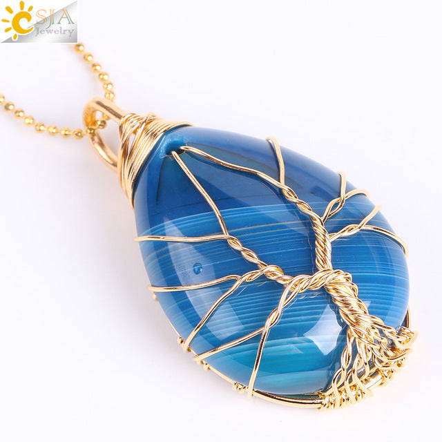 Tree of Life Wire Wrapped Gem Stone – BubzCoLoot