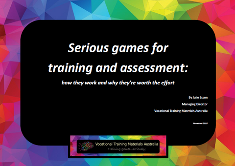 Serious games for training and assessment