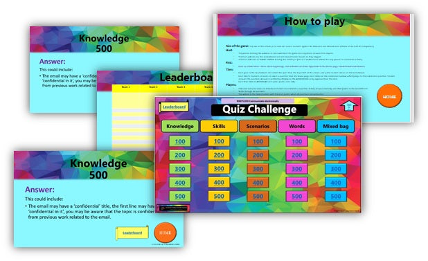 BSBITU203 Communicate electronically - Quiz game