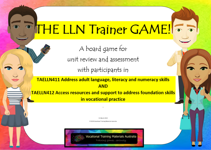 The LLN Trainer game - complete kit for units: TAELLN411 and TAELLN412