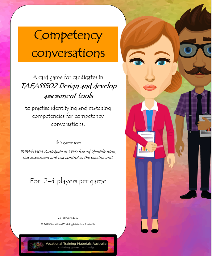 TAEASS502 Design and develop assessment tools - Competency conversations game
