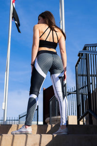Black HoneyComb Leggings