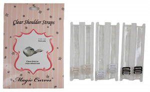 102C MAGIC CURVES 3 PAIRS CLEAR SHOULDER STRAPS