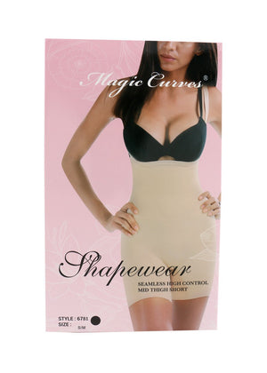 6781 MAGIC CURVES SEAMLESS MID THIGH BODYSUIT (6pcs Wholesale Price)
