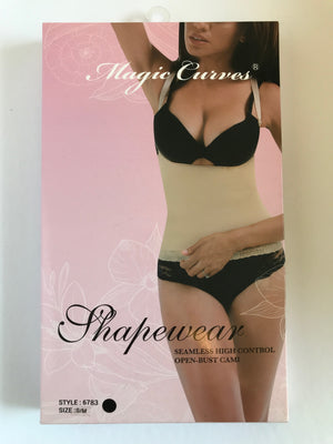6783 MAGIC CURVES SEAMLESS HIGH CONTROL OPEN BUST CAMISOLE (6pcs Wholesale Price)