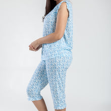 MAGIC CURVES BLUE FLORAL PAJAMA