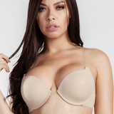MAGIC CURVES NUDE CLEAR STRAP BRA