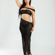 MAGIC CURVES SEXY OFF THE SHOULDER MESH MAXI LINGERIE